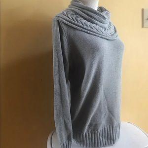 Grey Cowlneck Sweater Sz. SP